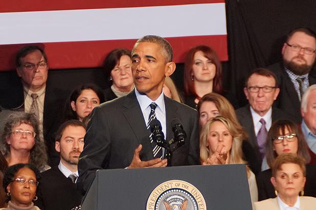 President Barack Obama in Chicago at The Copernicus Center