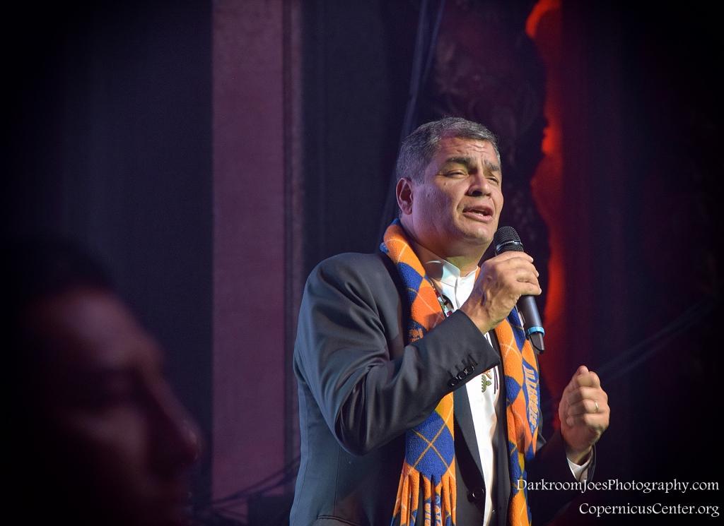 Darkroom Joe's Photography President of Ecuador Rafael Correa Copernicus Center Event Photographer-18