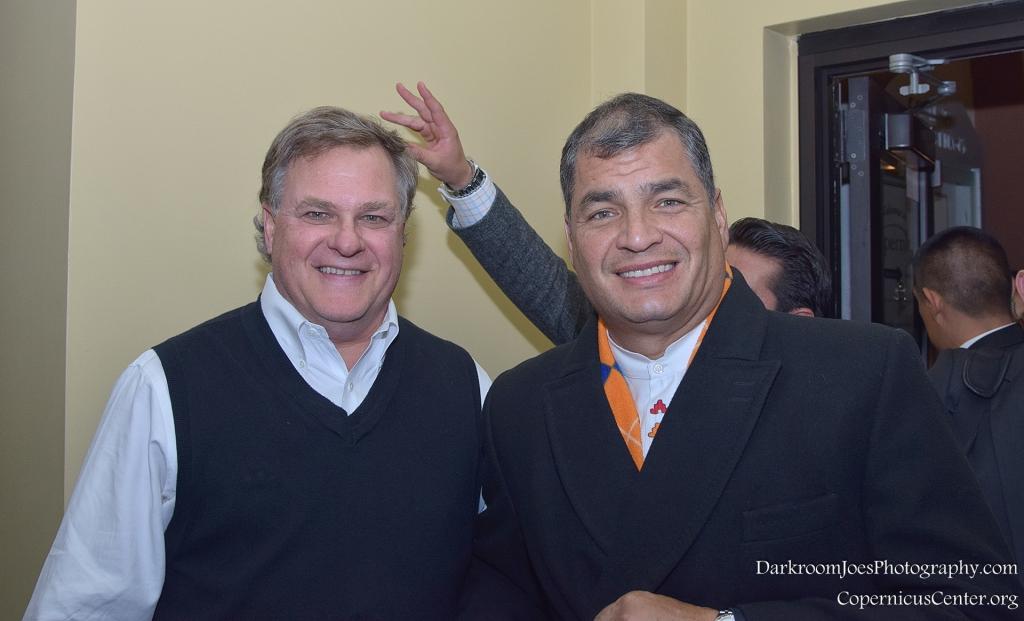 Darkroom Joe's Photography President of Ecuador Rafael Correa Copernicus Center Event Photographer-9
